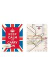 Notebook Set: Keep Calm And Carry On London Notebooks & Pads