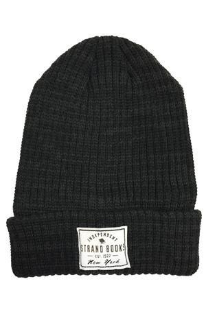 Beanie: Marbled Black Independent Knit