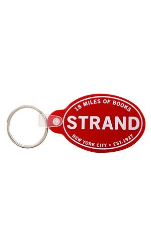 Keychain: Strand Red Oval (Vinyl) On Sale Now!